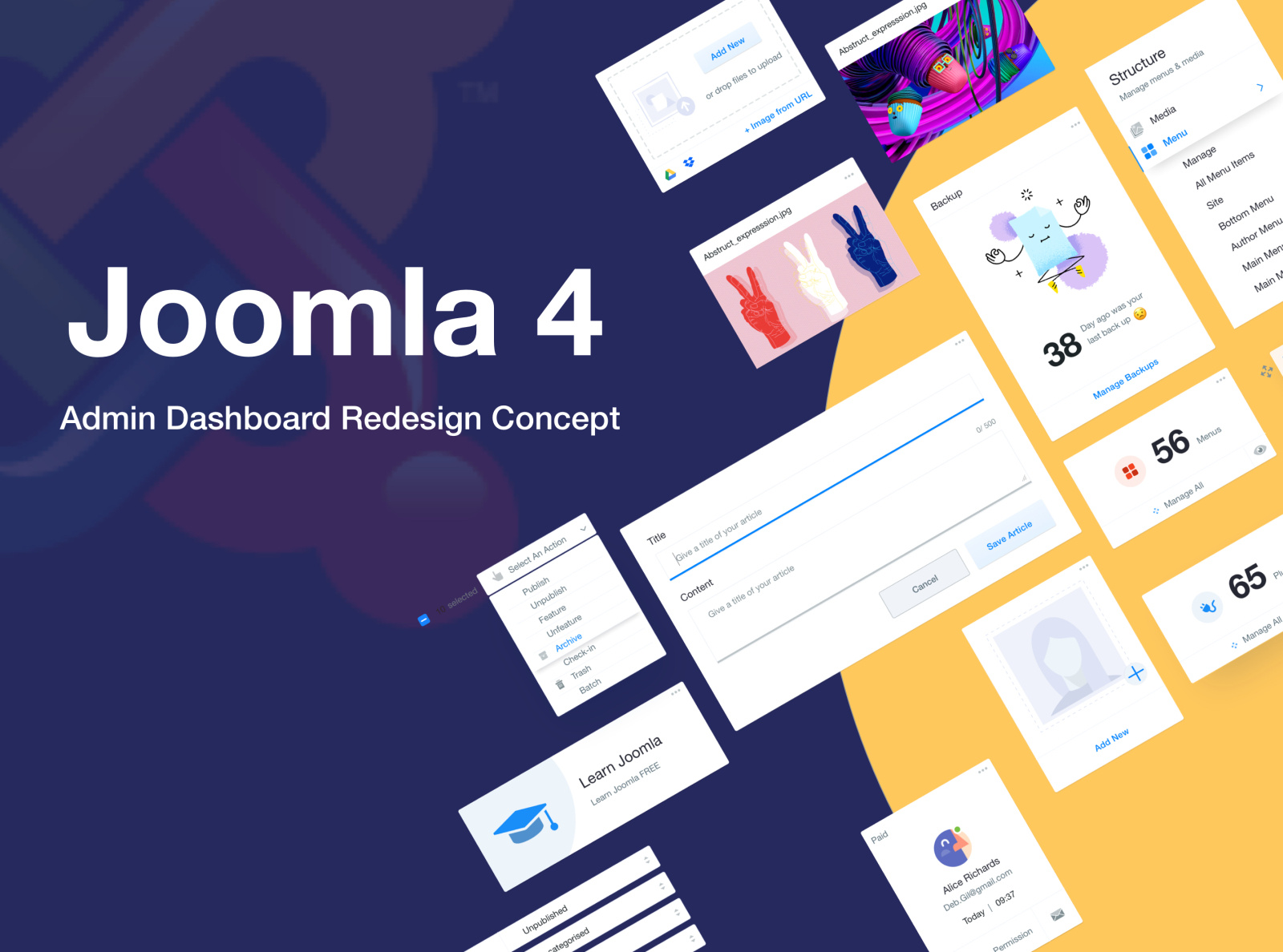 Un template administrateur Joomla! 4 repensé
